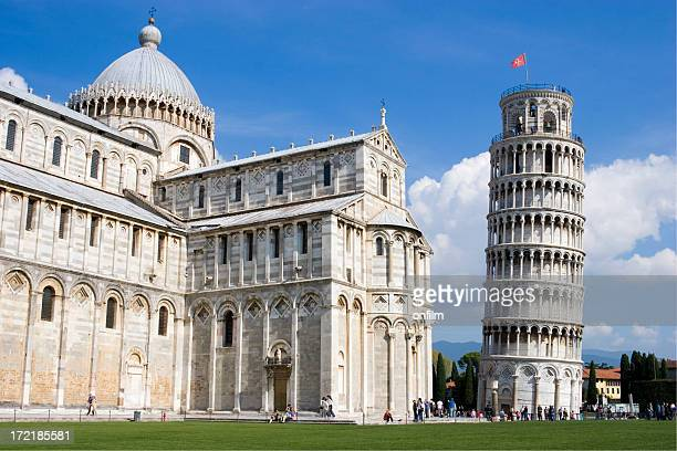 Torre pendente di Pisa, Italia e la cattedrale