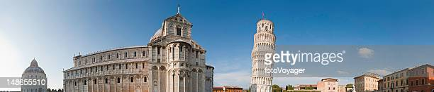 Leaning Tower of Pisa Piazza Duomo landmarks panorama Tuscany Italy
