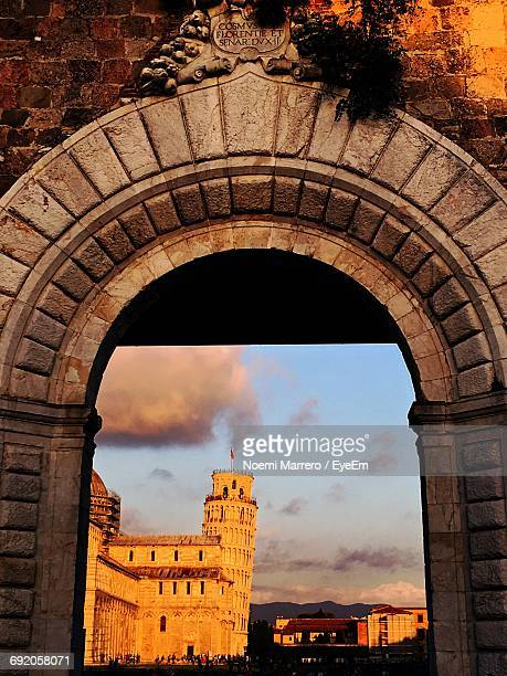 Leaning Tower Of Pisa Seen Through Arch
