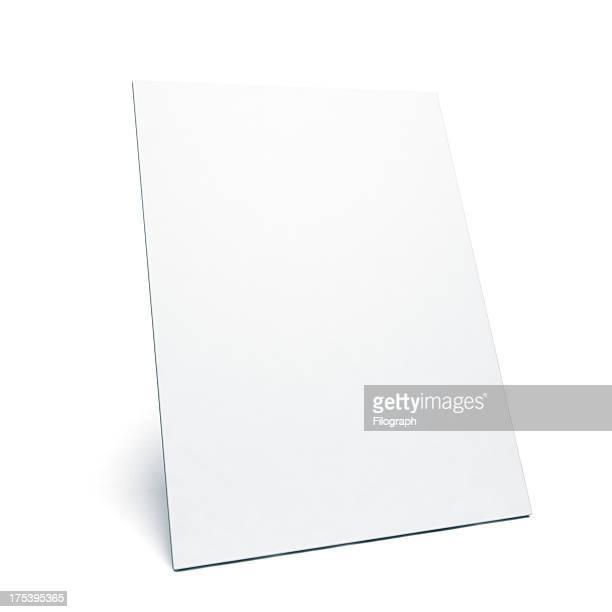 Appoggiarsi bianco poster con spazio per il tuo messaggio