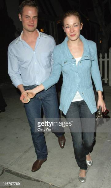 LeAnn Rimes and Dean Sheremet during Celebrity Sightings at Koi February 13 2007 at Koi in West Hollywood California United States