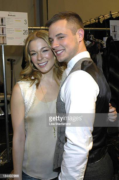 LeAnn Rimes and Dean Sheremet during Olympus Fashion Week Fall 2006 J Mendel Front Row and Backstage at Bryant Park in New York City New York United...
