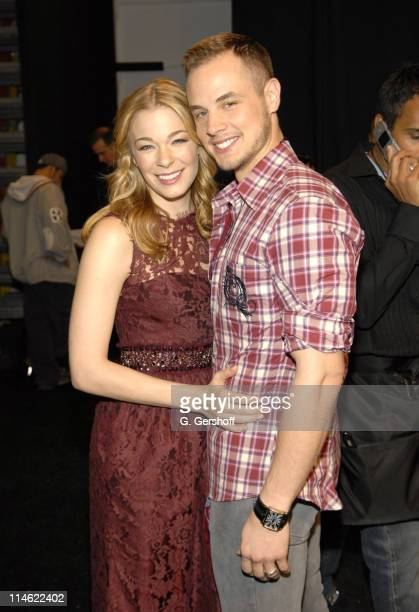 LeAnn Rimes and Dean Sheremet during Olympus Fashion Week Spring 2007 Monique Lhuillier Front Row and Backstage at The Promenade Bryant Park in New...