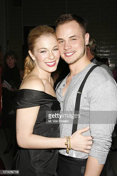 Leann Rimes and Dean Sheremet during Olympus Fashion Week Spring 2007 Marc Jacobs Backstage and Front Row at New York State Armory in New York NY...