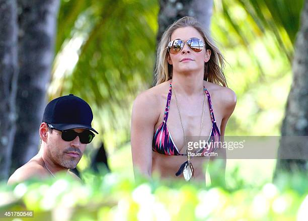 LeAnn Rimes and her husband Eddie Cibrian are seen on January 04 2012 in Maui Hawaii