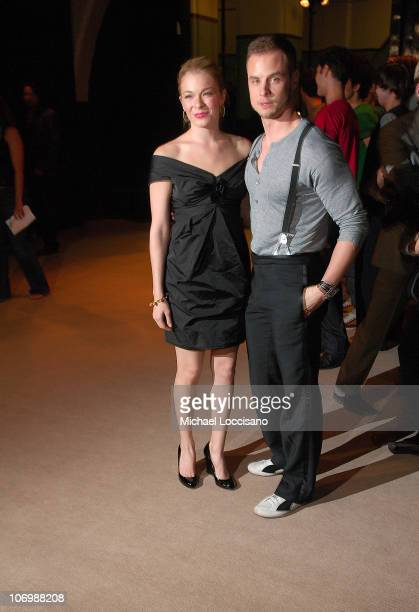 Leann Rimes and Husband Dean Sheremet during Olympus Fashion Week Spring 2007 Marc Jacobs Arrivals at New York State Armory in New York City New York...