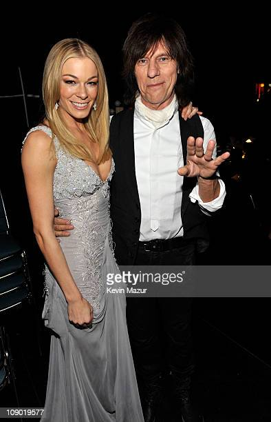 LeAnn Rimes and Jeff Beck attends 2011 MusiCares Person of the Year Tribute to Barbra Streisand at Los Angeles Convention Center on February 11 2011...