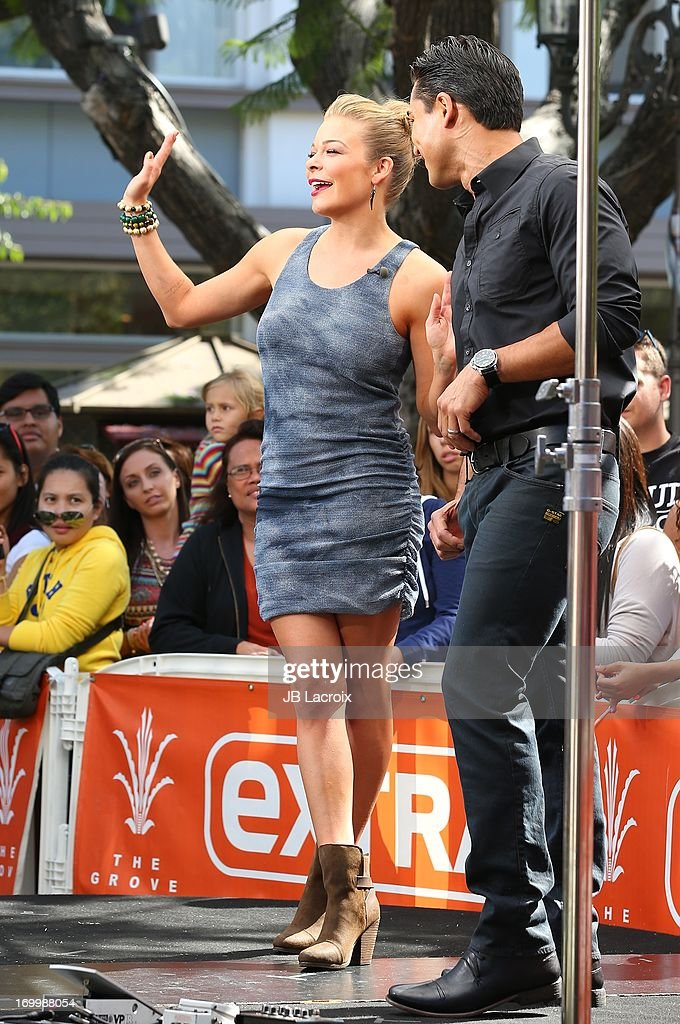 LeAnn Rimes and Mario Lopez are seen on June 5, 2013 in Los Angeles, California.