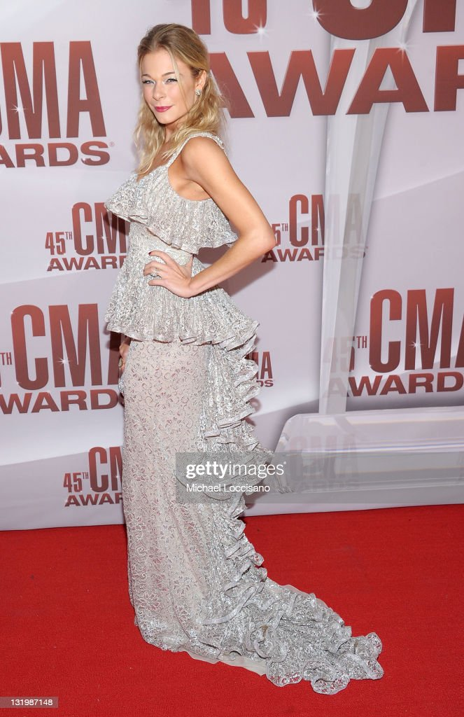 <a gi-track='captionPersonalityLinkClicked' href=/galleries/search?phrase=LeAnn+Rimes&family=editorial&specificpeople=208815 ng-click='$event.stopPropagation()'>LeAnn Rimes</a> attends the 45th annual CMA Awards at the Bridgestone Arena on November 9, 2011 in Nashville, Tennessee.