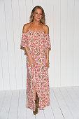 LeAnn Rimes attends the Tori Praver fashion show during FUNKSHION Fashion Week Miami Beach Swim at the FUNKSHION Tent on July 18 2015 in Miami Beach...