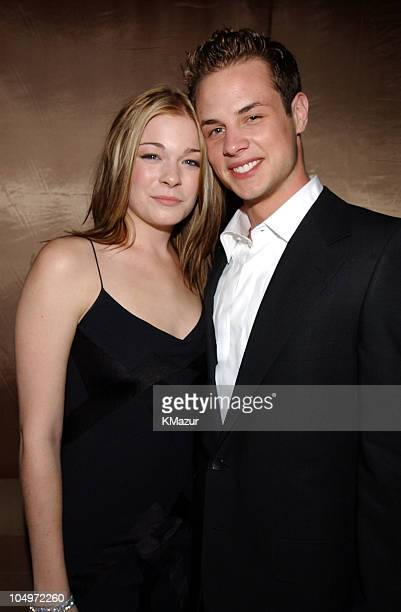 LeAnn Rimes Dean Sheremet during The 10th Annual Elton John AIDS Foundation InStyle Party Inside at Moomba Restaurant in Hollywood California United...
