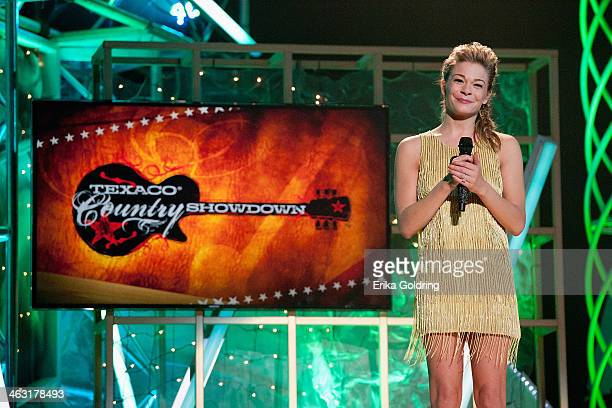 LeAnn Rimes hosts the 32nd annual Texaco Country Showdown National Final at the Ryman Auditorium on January 16 2014 in Nashville Tennessee
