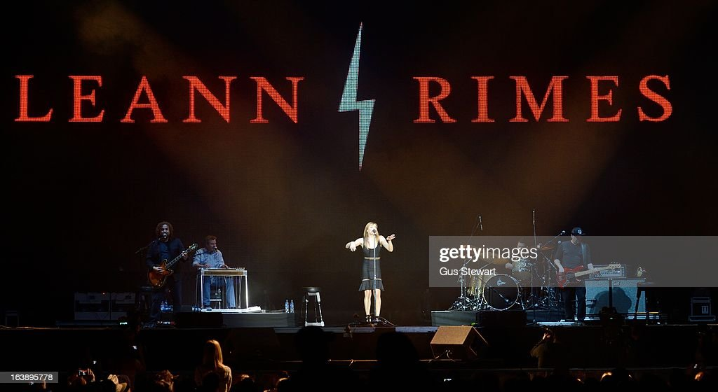 Leann Rimes performs on stage as part of the Country 2 Country tour at O2 Arena on March 17, 2013 in London, England.