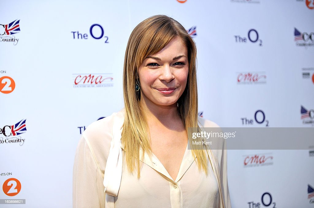 LeAnn Rimes poses backstage prior to performing as part of the Country 2 Country tour at O2 Arena on March 17, 2013 in London, England.