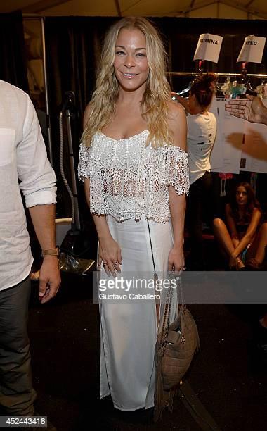 LeAnn Rimes seen around MercedesBenz Fashion Week Swim 2015 at The Raleigh on July 20 2014 in Miami Beach Florida