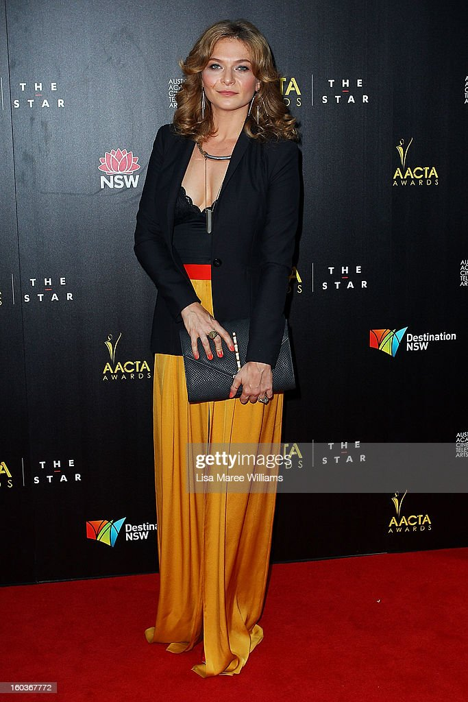 Leanna Walsman arrives at the 2nd Annual AACTA Awards at The Star on January 30, 2013 in Sydney, Australia.