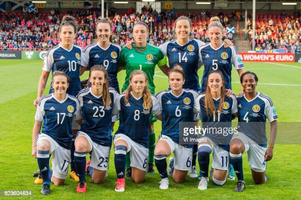 Leanne Crichton of Scotland women Caroline Weir of Scotland women goalkeeper Gemma Fay of Scotland women Rachel Corsie of Scotland women Leanne Ross...