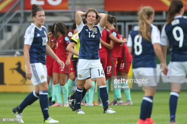 Leanne Crichton of Scotland women Rachel Corsie of Scotland women Erin Cuthbert of Scotland women Caroline Weir of Scotland women during the UEFA...