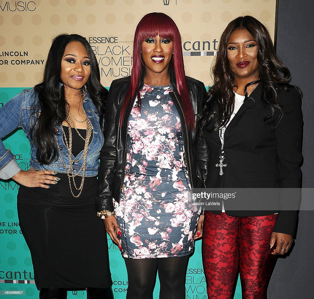 Leanne 'Lelee' Lyons, Cheryl 'Coko' Clemons and Tamara 'Taj' Johnson-George of the group SWV attend the 5th annual Essence Black Women In Music event at 1 OAK on January 22, 2014 in West Hollywood, California.