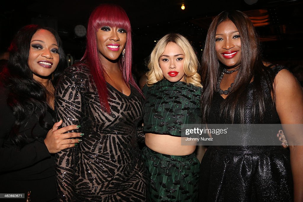 Leanne 'Lelee' Lyons, Cheryl 'Coko' Clemons, <a gi-track='captionPersonalityLinkClicked' href=/galleries/search?phrase=Elle+Varner&family=editorial&specificpeople=5926946 ng-click='$event.stopPropagation()'>Elle Varner</a> and Tamara 'Taj' George attend the 'SWV Reunited' series premiere at Jazz Room at the General on January 15, 2014 in New York City.