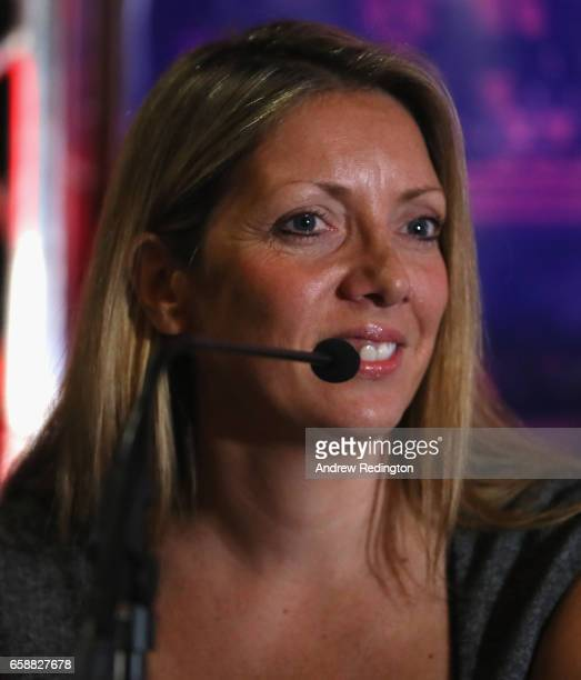 Leanne McClernon is pictured during an announcement by Barry Hearn and Matchroom Sport on March 28 2017 at the O2 in London England