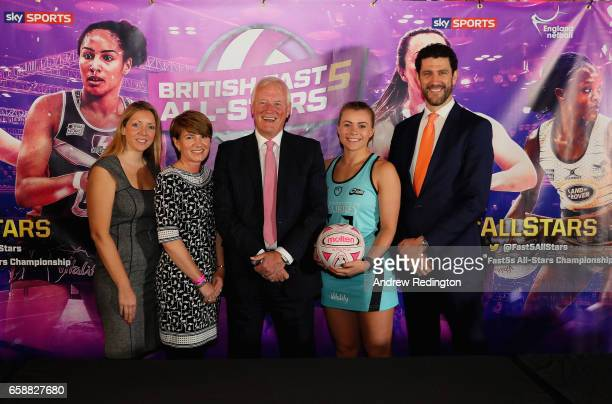 Leanne McClernon Joanna Adams Barry Hearn Mikki Austin and Yanni Andreopoulos are pictured during an announcement by Barry Hearn and Matchroom Sport...