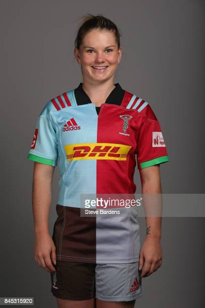 Leanne Riley of Harlequins Ladies poses for a portrait during the Harlequins Ladies Squad Photo call for the 2017/18 Tyrrells Premier 15s Season at...