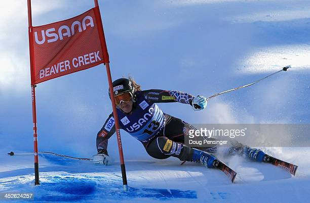 Leanne Smith of the United States skis to 24th place in the ladies' Super G on Raptor at the Audi FIS Ski World Cup at Beaver Creek on November 30...