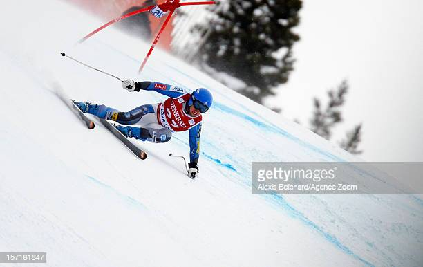 Leanne Smith of the USA competes during the Audi FIS Alpine Ski World Cup Women's Downhill training on November 29 2012 in Lake Louise Canada