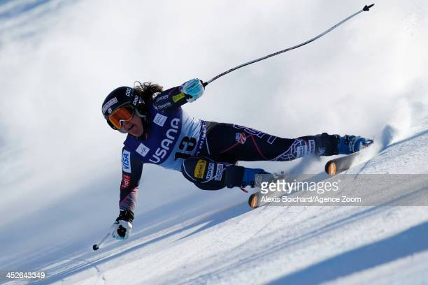 Leanne Smith of the USA competes during the Audi FIS Alpine Ski World Cup Women's SuperG on November 30 2013 in Beaver Creek Colorado