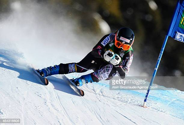 Leanne Smith of the USA competes during the Audi FIS Alpine Ski World Cup Women's SuperG on December 08 2013 in Lake Louise Canada