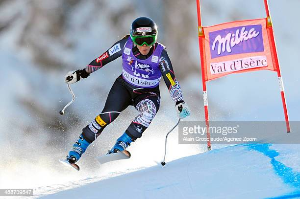 Leanne Smith of the USA competes during the Audi FIS Alpine Ski World Cup Women's Downhill on December 21 2013 in Val d'Isere France