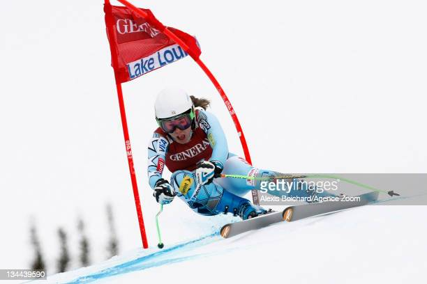 Leanne Smith of the USA during the Audi FIS Alpine Ski World Cup Women's Downhill training on December 1 2011 in Lake Louise Alberta Canada