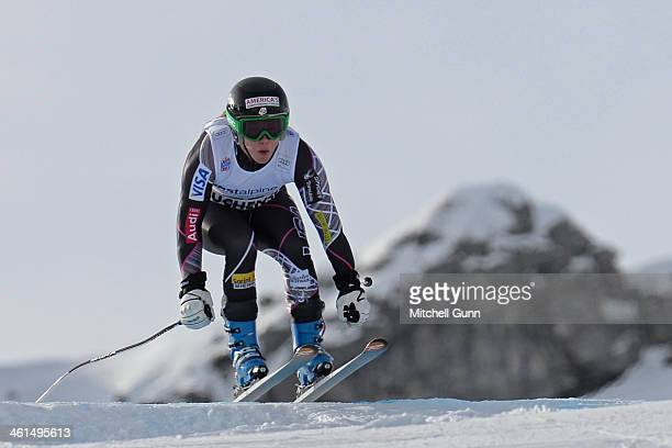 Leanne Smith of The USA races down the course whilst competing in the FIS Alpine World Cup downhill training on January 09 2014 in Zauchensee Austria