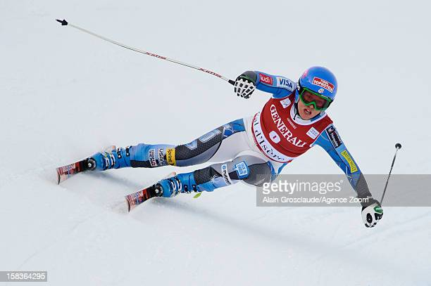 Leanne Smith of the USA takes 3rd place during the Audi FIS Alpine Ski World Cup Women's Downhill on December 14 2012 in Val d'Isere France