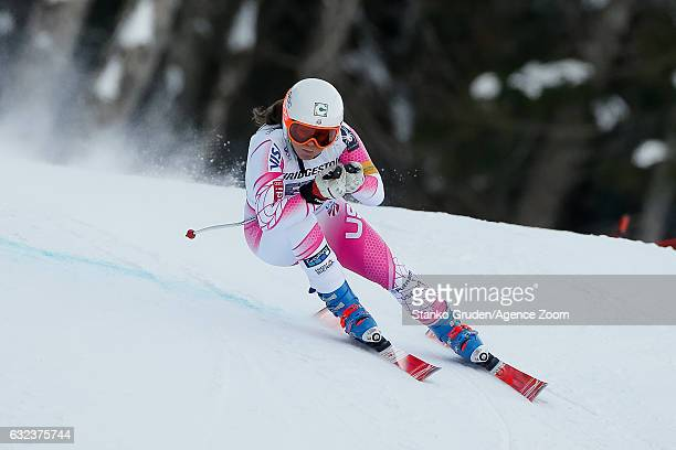 Leanne Smith of USA competes during the Audi FIS Alpine Ski World Cup Women's SuperG on January 22 2017 in GarmischPartenkirchen Germany