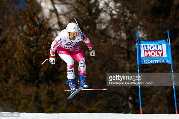 Leanne Smith of USA competes during the Audi FIS Alpine Ski World Cup Women's SuperG on January 29 2017 in Cortina d'Ampezzo Italy