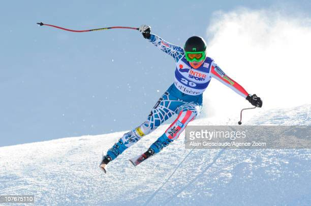Leanne Smith of USA in action during the Audi FIS Alpine Ski World Cup Women's Downhill on December 18 2010 in Val D'Isere France