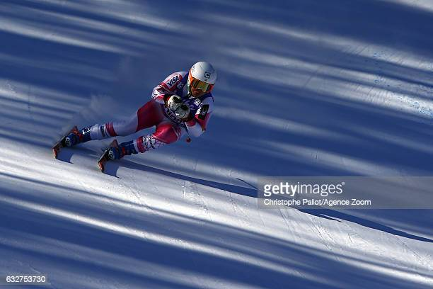 Leanne Smith of USA in action during the Audi FIS Alpine Ski World Cup Women's Downhill Training on January 26 2017 in Cortina d'Ampezzo Italy