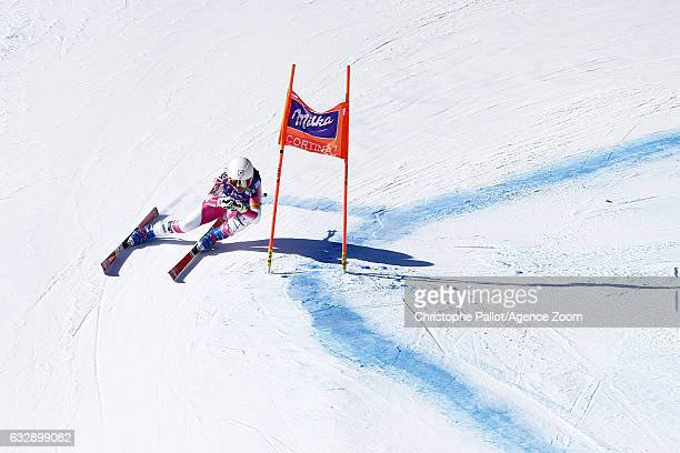 Leanne Smith of USA in action during the Audi FIS Alpine Ski World Cup Women's Downhill on January 28 2017 in Cortina d'Ampezzo Italy