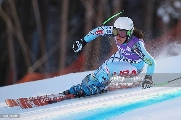 Leanne Smith skis to 11th place in the women's Super G on the Birds of Prey at the Audi FIS World Cup on December 7 2011 in Beaver Creek Colorado