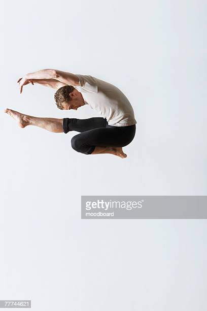 Leaping Ballet Dancer in Mid-air
