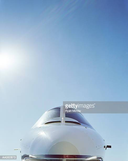 Lear jet, close-up