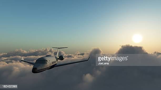 Learjet 60 Above The Clouds