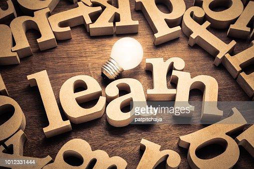 Apprendre et ampoule : Photo