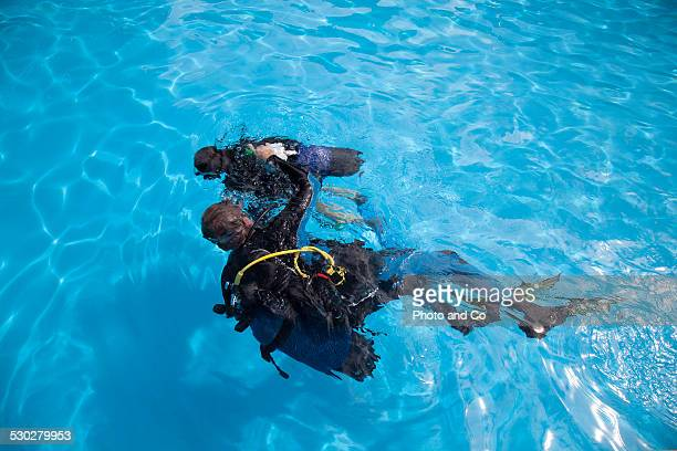 Learn scuba diving in the pool