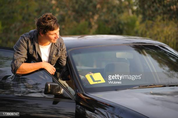 Learner Driver attaching L Plate