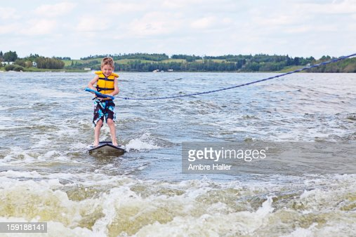 Learning how to surf : Stock Photo