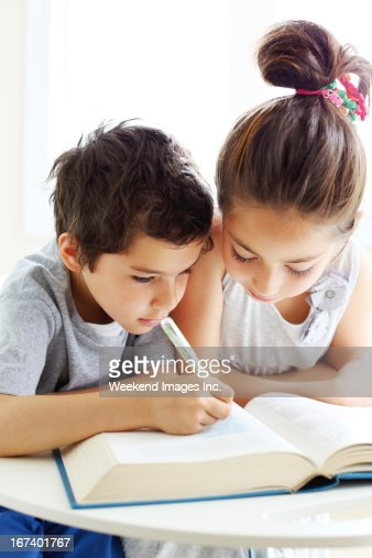 Learning to read : Stock Photo