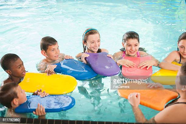 Learning to Swim with Kickboards